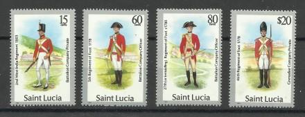 Продам марки Сент Люсия 4 шт. Киев. фото 1