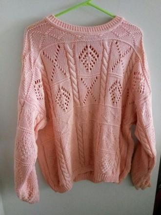 Объемный персиковый свитер. Николаев. фото 1
