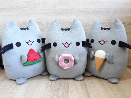 Мягкая игрушкаКот Пушин (Pusheen ― the cat)с пончиком. Бердянск. фото 1