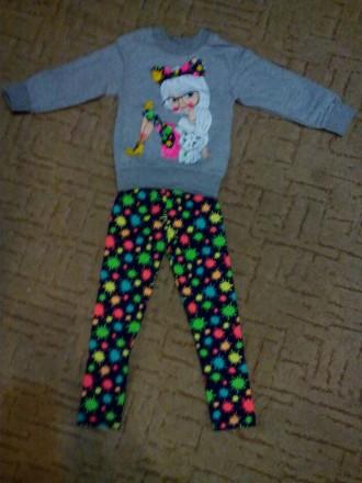 Спортивный костюм на флисе для девочки 3-6 лет. Дніпро. фото 1