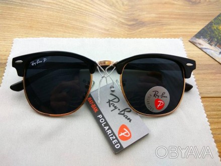 Солнцезащитные очки Ray Ban Рэй Бэн + чехол с поляризацией polaroid 41a0866d4b5