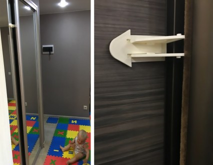 Защита, замок блокиратор на шкаф купе для безопасности Вашего ребенка. Защита сд. Херсон, Херсонская область. фото 3