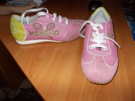 Кроссовки для девочки итальянские классные кожаные. Николаев. фото 1