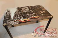 Стеклянный стол для кухни. Днепр. фото 1
