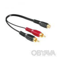 Кабель HAMA 44115 Audio Adapter 2RCA Plugs-RCA Jack. Николаев. фото 1