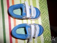 Продам детские кроссовки на мальчика. Цвет синий с оранжевыми полосками.. Днепр, Днепропетровская область. фото 4