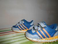 Продам детские кроссовки на мальчика. Цвет синий с оранжевыми полосками.. Днепр, Днепропетровская область. фото 3