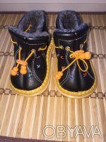 Ботиночки тёплые с термовойлоком новые почти  совсем не носили будут очень удоб. Киев, Киевская область. фото 4