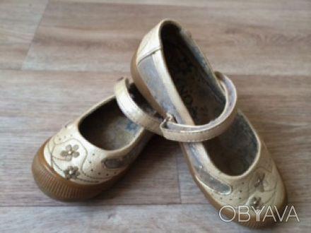 Туфли Балетки детские для девочки Canoa, р.25, цвет:беж, б/у, в хорошем состояни. Днепр, Днепропетровская область. фото 1