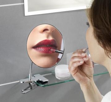 Косметичне дзеркало, WENKO, 5 x збільшення, для макіяжу, 15х27 см. (25373). Киев. фото 1