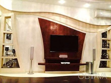 В квартире выполнен дизайнерский евроремонт, остается вся мебель и техника. В до. Калининский, Донецк, Донецкая область. фото 1