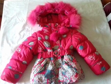 Курточка+комбинезон+жилет (тройка) на девочку. Изюм. фото 1