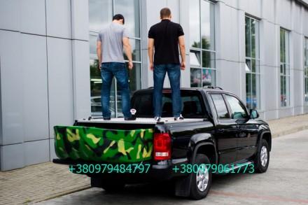 Алюминиевая крышка багажника Volkswagen Amarok, крышка кузова для пикапа Фольцва. Киев, Киевская область. фото 12