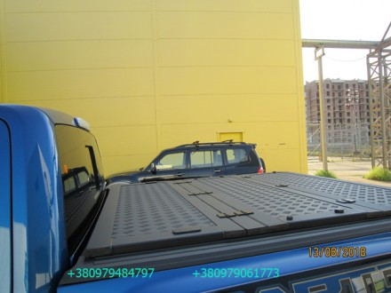 Алюминиевая крышка багажника Volkswagen Amarok, крышка кузова для пикапа Фольцва. Киев, Киевская область. фото 2