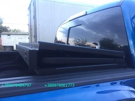 Алюминиевая крышка багажника Volkswagen Amarok, крышка кузова для пикапа Фольцва. Киев, Киевская область. фото 8