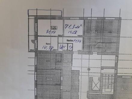 2-комнатная квартира, 71 кв.м. Винница. фото 1