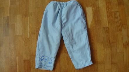 Детский комплект голубого цвета. И курточка и штаны на флисе. Размер на 2-3 года. Мелитополь, Запорожская область. фото 5