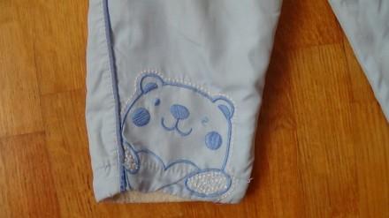 Детский комплект голубого цвета. И курточка и штаны на флисе. Размер на 2-3 года. Мелитополь, Запорожская область. фото 6