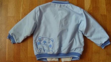 Детский комплект голубого цвета. И курточка и штаны на флисе. Размер на 2-3 года. Мелитополь, Запорожская область. фото 4