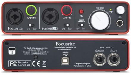 USB аудио карта Focusrite Scarlett 2i2 Состояние товара: Легкое Б/У  Описание. Киев, Киевская область. фото 3