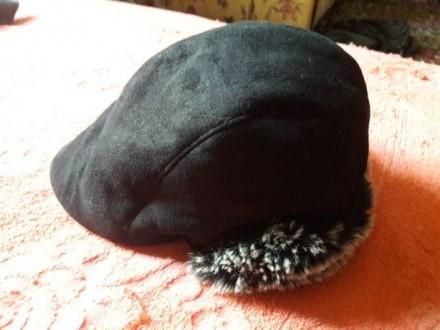 Теплая шапочка с козырьком для мальчика Глубина 12 см, объем 48-50, на возраст . Чернигов, Черниговская область. фото 3