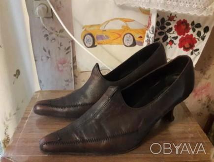 Женские туфли кожаные 36 размер Туфли в хорошем состоянии. Чернигов, Черниговская область. фото 1