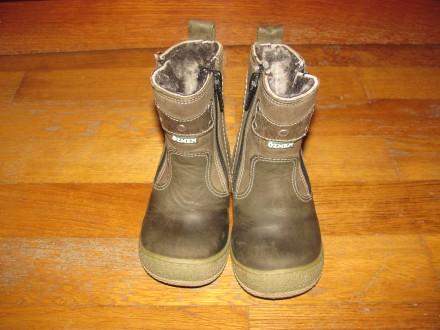 шкіряні турецькі дитячі зимові чобітки у хорошому стані, розмір 21, підійдуть і. Хмельницкий. фото 1