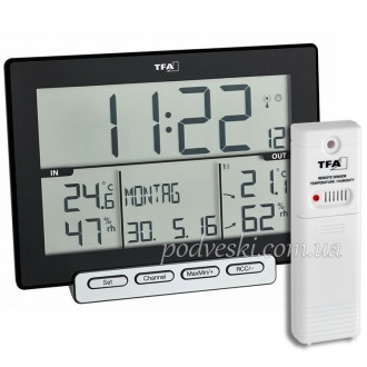 Часы-термогигрометр электронный Trinity TFA 30305801. Киев. фото 1