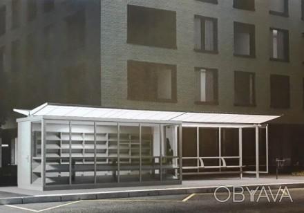 Предлагаем в аренду новый остановочный комплекс площадью 15 кв.м. на остановке о. Воскресенка, Киев, Киевская область. фото 1