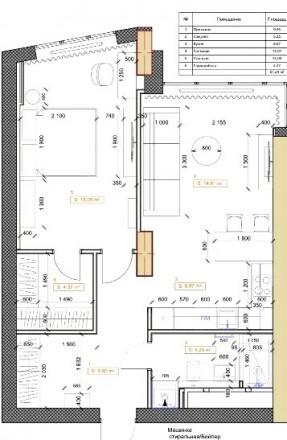 В продаже новая стильная 2-х комнатная квартира в ЖК Панорама общей площадью 64м. Нагорка, Дніпро, Днепропетровская область. фото 10