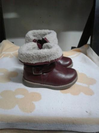 Зимние сапожки для девочки в отличном состояние. Почти как новые (на фото видно). Черновцы, Винницкая область. фото 3