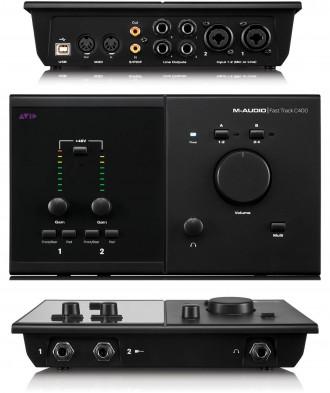 M-Audio FAST TRACK C400 Профессиональный аудиоинтерфейс. Функциональное и мобил. Киев, Киевская область. фото 2