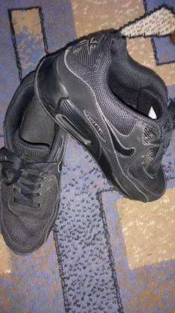 Кроссовки Nike Air Black Черные Замш. Днепр. фото 1