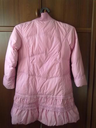 Розовое пальтишко с жилеткой, на жилетке не работает молния, рукав-50 см, длина . Киев, Киевская область. фото 3