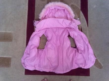 Розовое пальтишко с жилеткой, на жилетке не работает молния, рукав-50 см, длина . Киев, Киевская область. фото 5