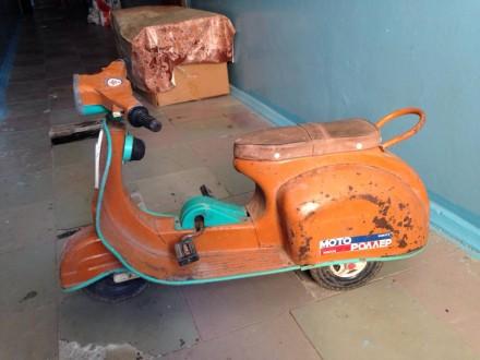 Продам детский мини мотороллер Крошка,84 года выпуска,под реставрацию,в хорошем. Одесса. фото 1