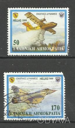 Продам марки Греции  2 шт (гашеные)  20 грн 1999 г. Вооруженные силы -  самолет. Киев, Киевская область. фото 1
