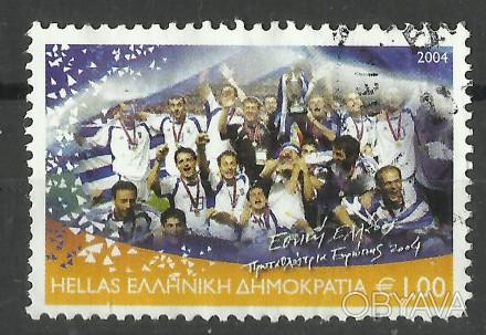 Продам марки Греции 1 шт  Футбол  30 грн  2004 г. Греция Победитель чемпионата . Киев, Киевская область. фото 1