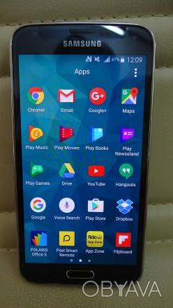 Продам Samsung S5 черный, полностью разблокированный, в отличном состоянии, полн. Днепр, Днепропетровская область. фото 1