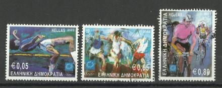 Продам марки Греции 3 шт Спорт. Киев. фото 1