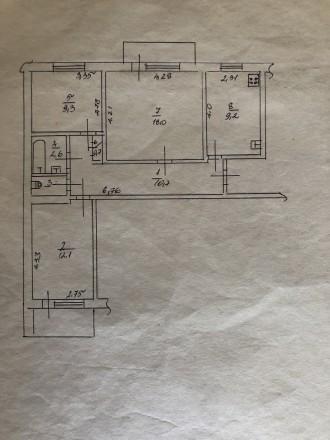 Пропоную Вашій увазі чудову трикімнатну квартиру з класним плануванням. Квартира. Район Д, Черкассы, Черкасская область. фото 10