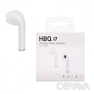 Наушники беспроводные HBQ i7 V4.1+EDR (1наушник) Bluetooth: V4.1 + EDR Выходна. Чернигов, Черниговская область. фото 1