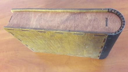 Коробка ручной работы. С кожаным переплетом. Внутри проклеен черный фетр. Внутрь. Одесса, Одесская область. фото 5