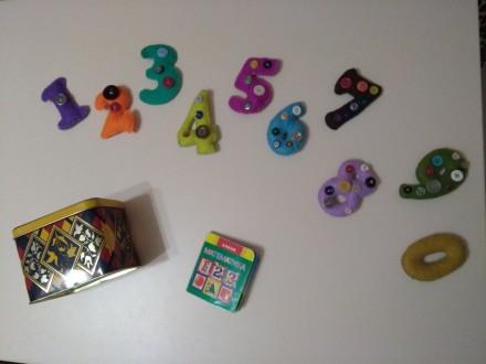 М'які цифри для дітей, ручна робота + подарунок. Хмельницкий. фото 1