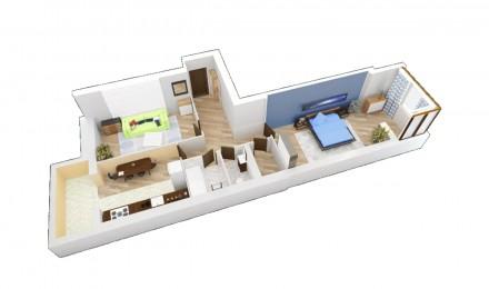 Продается 2-х комнатная квартира (с гаражом или без) в ЖК Заречном, дом сдан. Сумы. фото 1