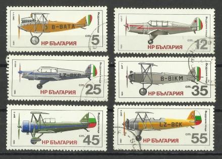 Продам марки Болгарии 6 шт Авиация. Киев. фото 1