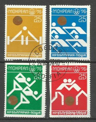 Продам марки Болгарии 4 шт (гашеные) 45 грн 1976 г. Олимпийские игры - Монреаль. Киев, Киевская область. фото 1