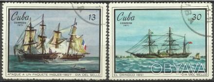 Продам марки Кубы 2 шт (гашеные)  25 грн  1971 г   Парусники (полная серия ). Киев, Киевская область. фото 1