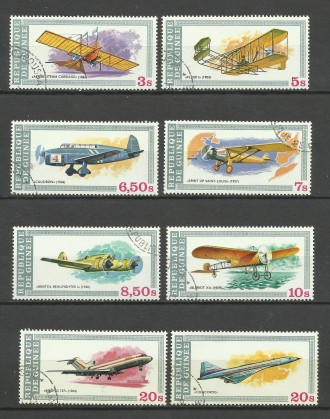 Продам марки Гвинеи 8 шт Авиация. Киев. фото 1
