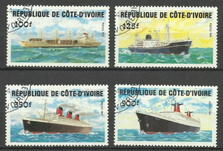 Продам марки Кот де Вуар 4 шт. Киев. фото 1